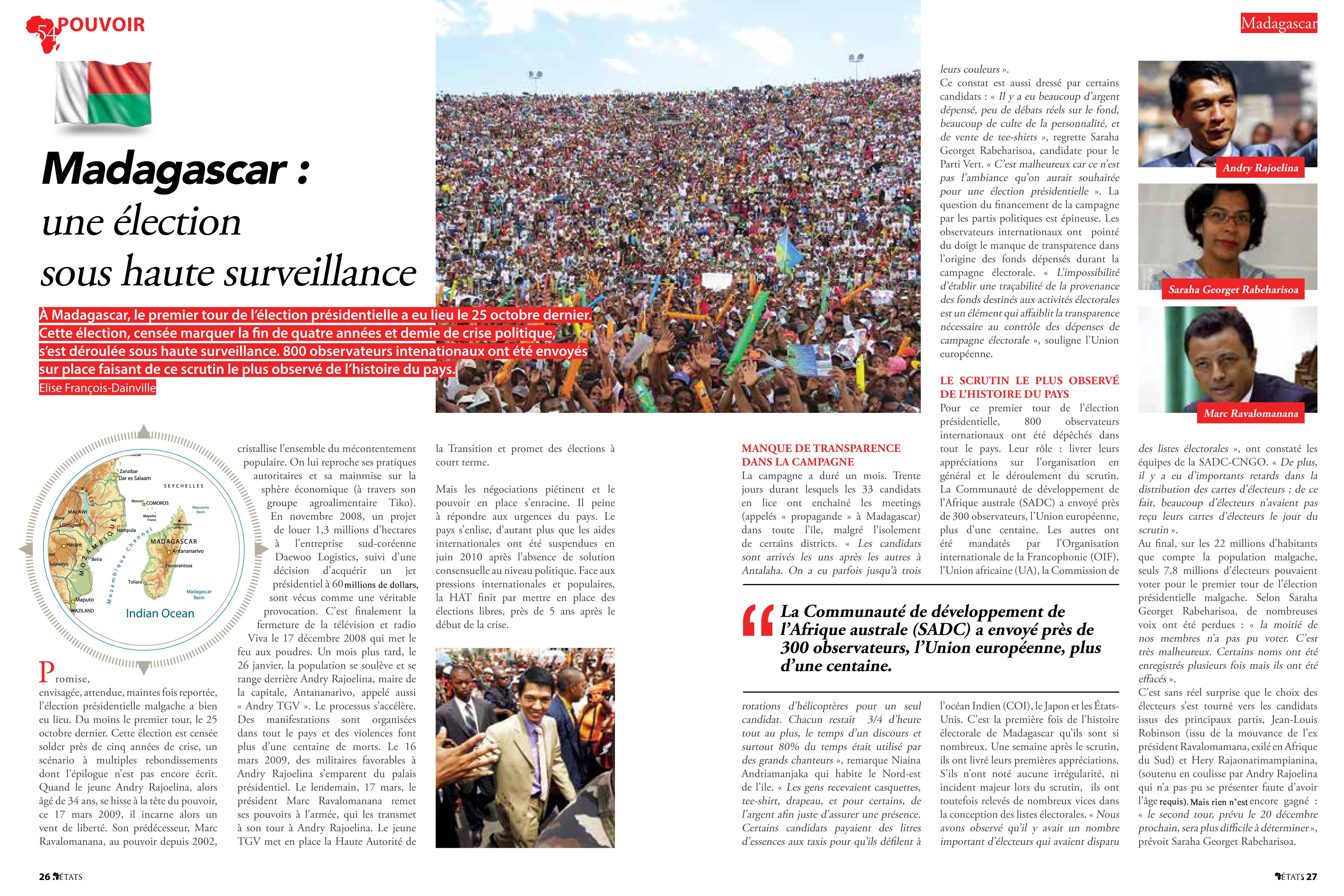 Madagascar, une élection sous haute surveillance